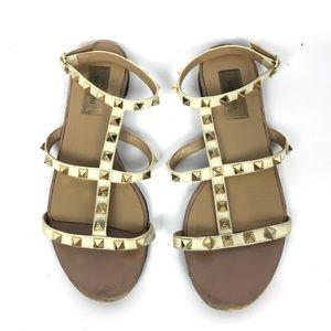 VALENTINO Rockstud Ankle Gladiator Sandals \\ 37